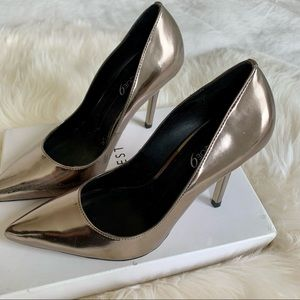 Boutique 9 High Heels Shoes Dark Silver 7,5M